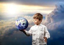 Хлопчик, земля