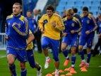 Сборная Украины на тренировке