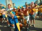 Шведские фанаты не спешат уезжать с Украины