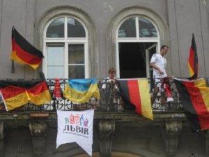 Німецькі вболівальникі у Львові