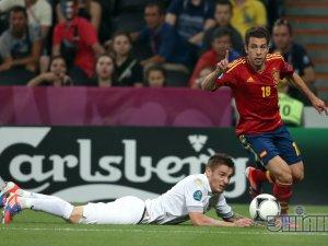 [фото] Испания вышла в полуфинал Евро-2012
