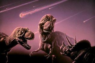 Ученые: динозавры вымерли из-за серии метеоритов