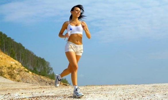 девушка пробежка бег