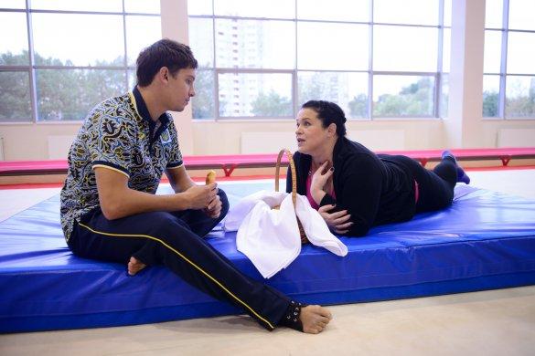 Руслана активно работает над своим прыжком и практически, и теоретически