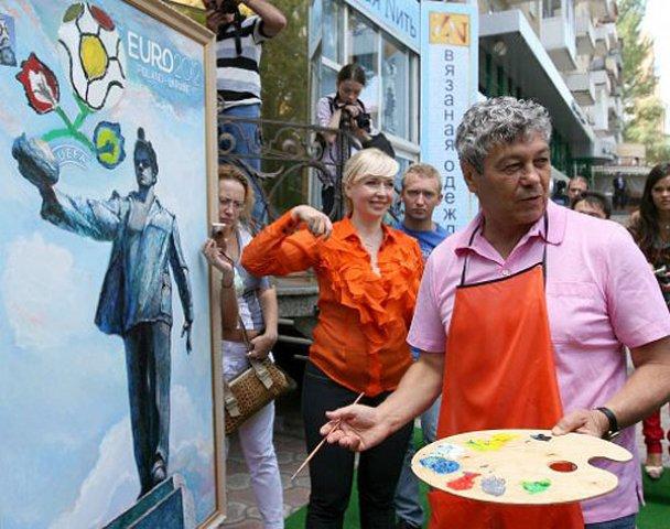 """Футболісти ФК """"Шахтар"""" намалювали емблему Донецька_8"""
