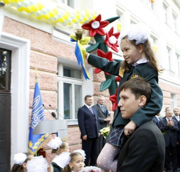Віктор Янукович у школі 1 вересня_2