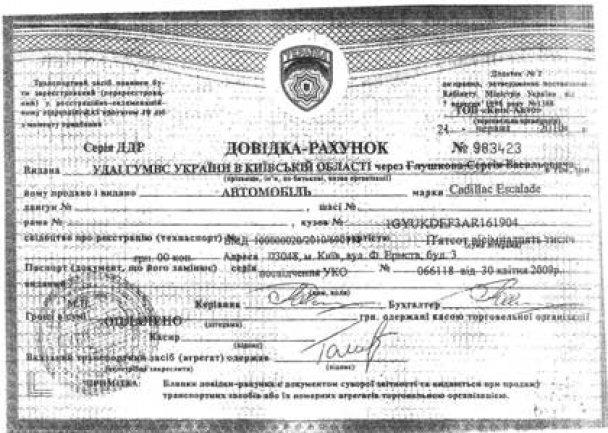 Документи на Cadillac Могильова_2