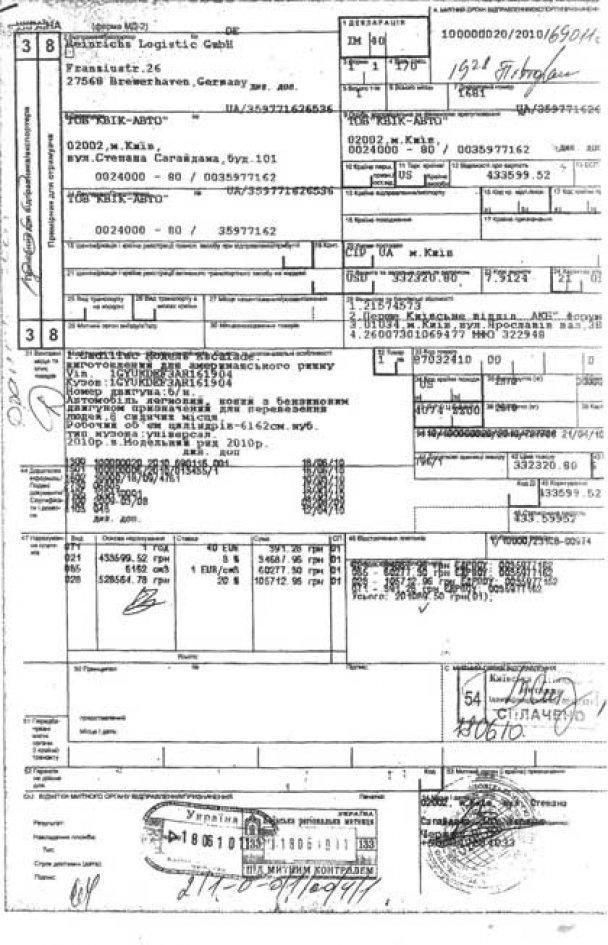 Документи на Cadillac Могильова_3
