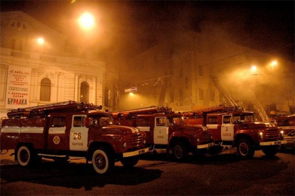 Пожежа в центрі Харкова_3