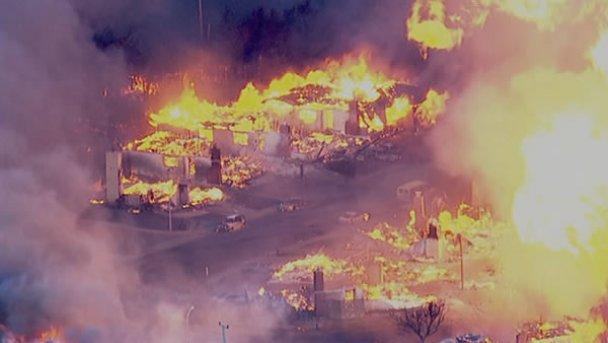 Пожежа в Сан-Бруно. Фото ABC 7