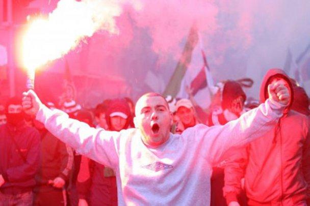 Сутичка між фанатами Карпат і Боруссії у Львові_9
