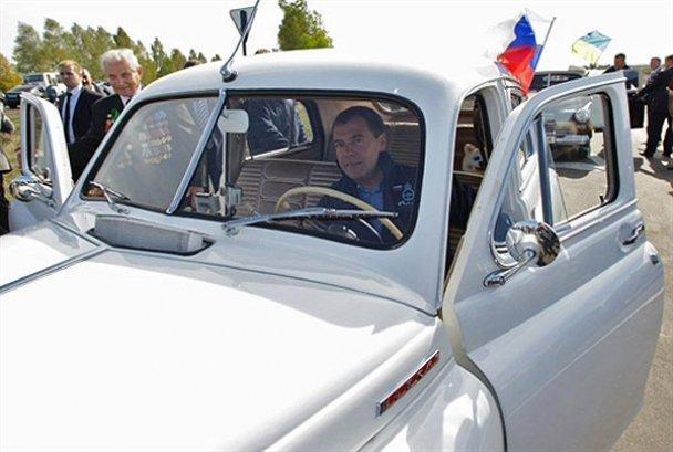 Янукович і Мєдвєдєв у Міжнародному автопробігу_4