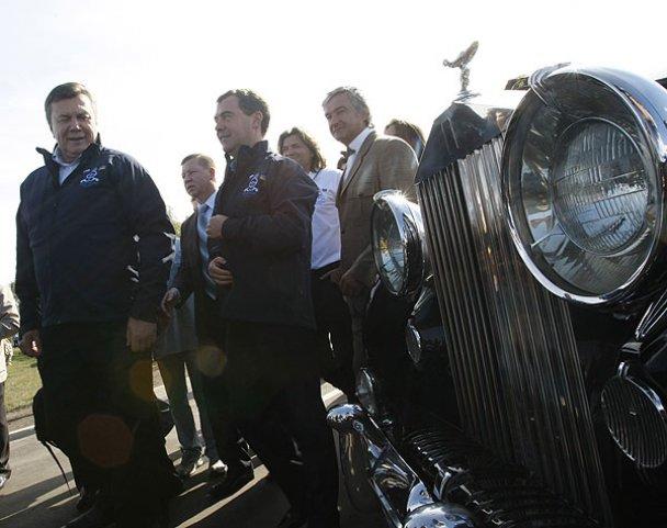 Янукович і Мєдвєдєв у Міжнародному автопробігу_1