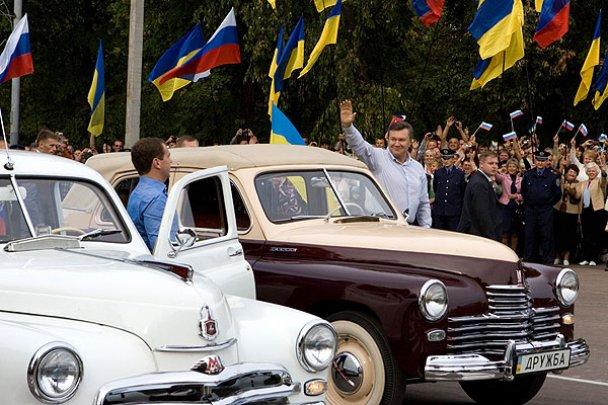 Янукович і Мєдвєдєв у Міжнародному автопробігу_3