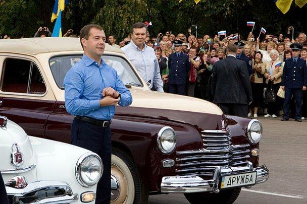 Янукович і Мєдвєдєв у Міжнародному автопробігу_5