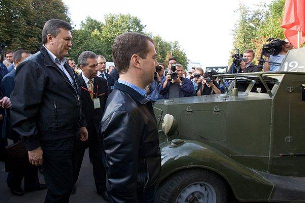 Янукович і Мєдвєдєв у Міжнародному автопробігу_16