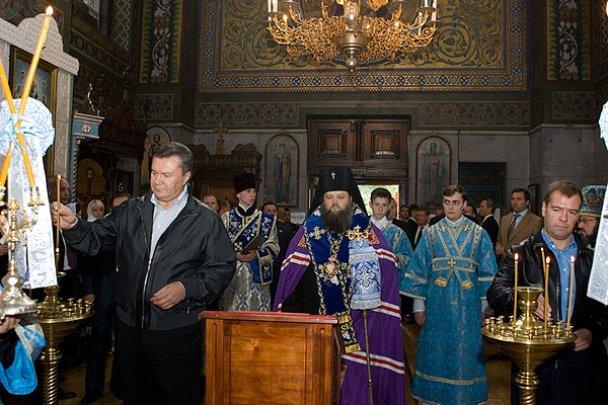 Янукович і Мєдвєдєв у Міжнародному автопробігу_24