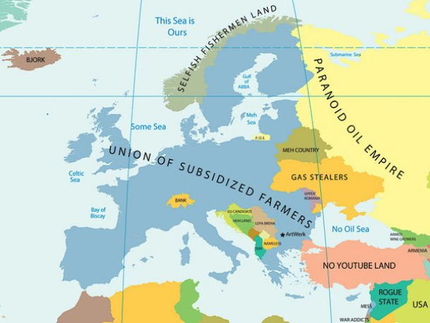 Європа, стереотипи
