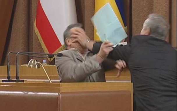 бійка у парламенті Криму