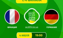 Франция - Германия - 0:1. Все о матче