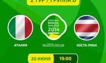 Италия - Коста-Рика - 0:1. Все о матче