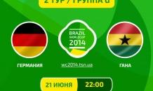 Германия - Гана - 2:2. Все о матче (видео)