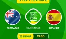 Австралия - Испания - 0:3. Все о матче