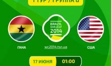 Гана - США - 1:2. Все о матче (Видео)
