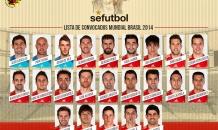 Сборная Испании объявила окончательный состав на чемпионат мира-2014
