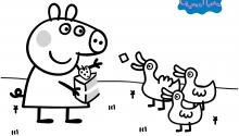Розмальовка. Свинка Пеппа 5