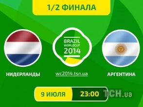 Нідерланди - Аргентина - 0:0. Онлайн-трансляція