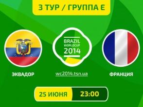 Еквадор - Франція - 0:0. Онлайн-трансляція