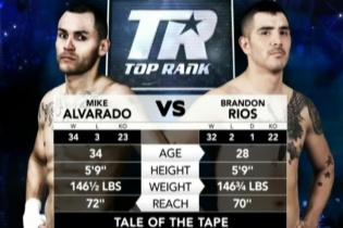 [фото] Чемпіонський бій за версією WBO International Майк Альварадо - Брендон Ріос
