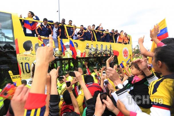 Збірна Колумбії повернулася додому з Бразилії_6