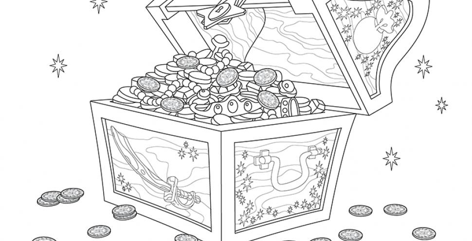 Розмалюй скарбницю Джейка та піратів