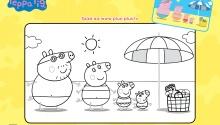 Свинка Пеппа і родина відпочивають на пляжі