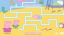 Пеппа і Джорд вирушають до ліжечка. Допоможи їм зібрати свої іграшки