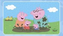 Свинка Пеппа і родина борсаються в мутній калюжі