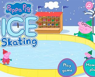 Пеппа і Джордж катаються на ковзанах
