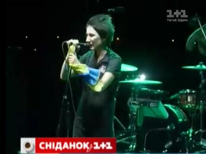 Земфіра виступила з українським прапором в руках