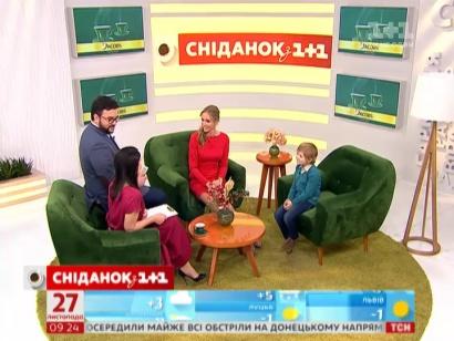 Євгеній Лебедин і Катерина Осадча в студії