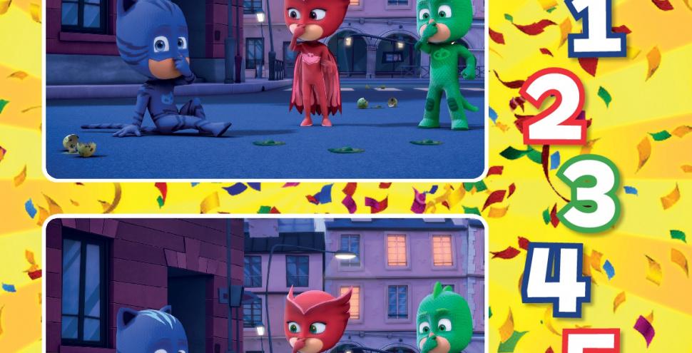 Герої в масках Знайди відмінності