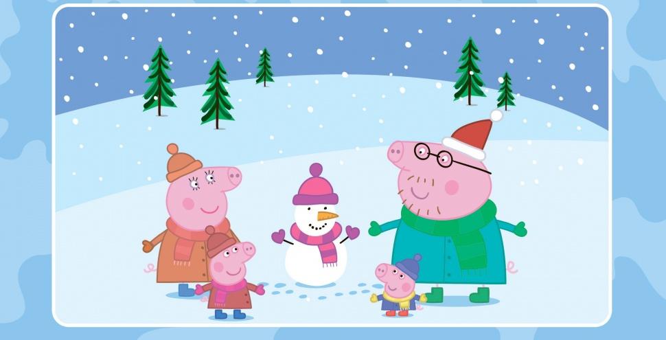 Пеппа та її родина катаються на ковзанах