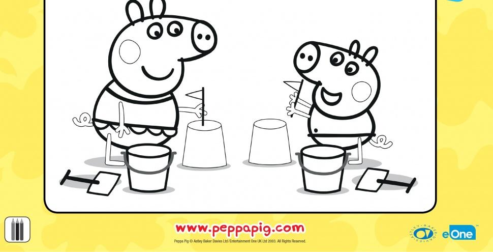 Свинка Пеппа і Джордж роблять пасочки з піску