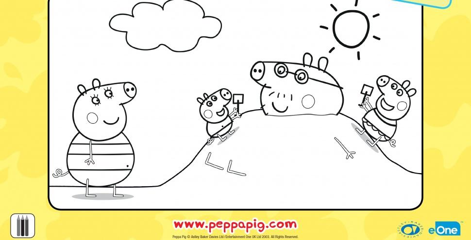 Свинка Пеппа і Джордж граються на пляжі