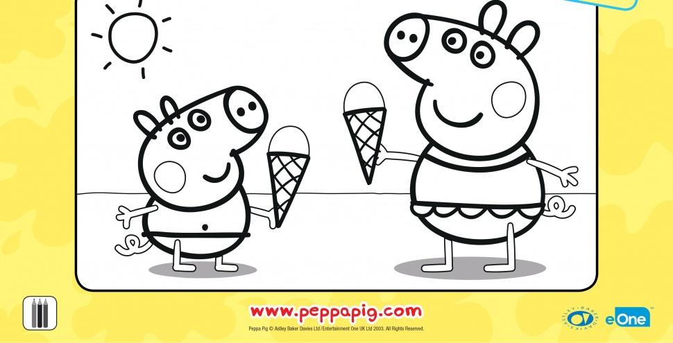 Свинка Пеппа і Джордж смакують морозиво