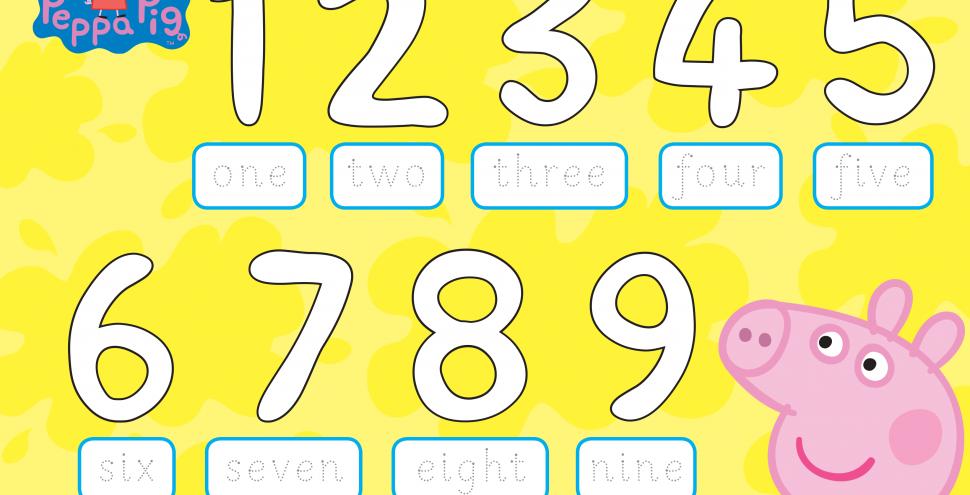 Свинка Пеппа вчиться писати цифри. Долучайся!