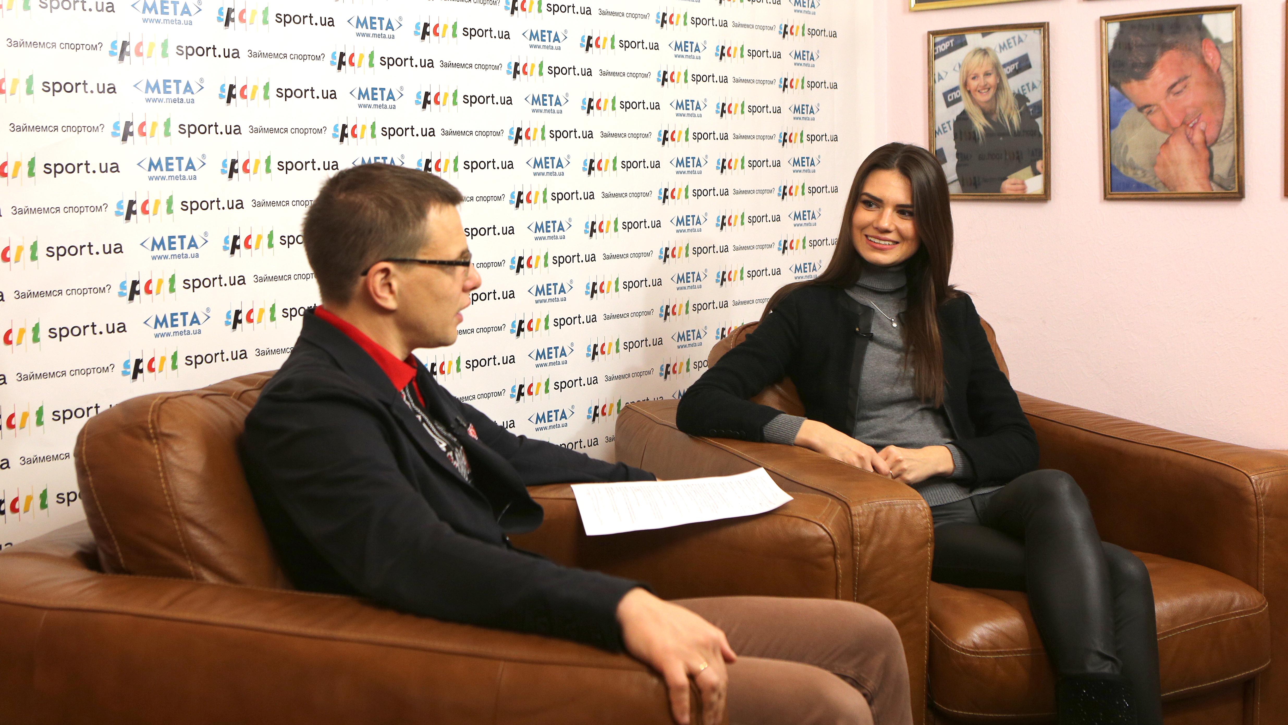 Олександра Лобода в гостях у редакції Sport.ua