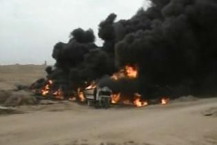 В Турции горит нефтепровод (видео)