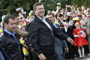 Янукович оконфузился на встрече с Медведевым (видео)